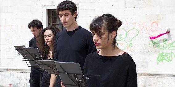 Marta Grasso, 70 volte 7, performance, Riva dei Sette Martiri, June 1st, 2013. Photo Nicola Bustreo
