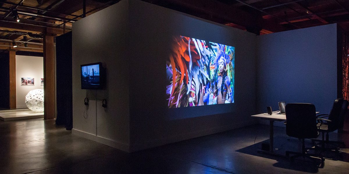 EN MAS', CAC New Orleans general view, 2015. Exhibition design Gia Wolff. Photo Sarrah Danziger