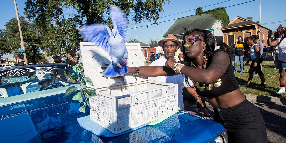 Keedy Black, Big Chief Dalcour and a Serenity Peace Bird. Photo Josh Brasted