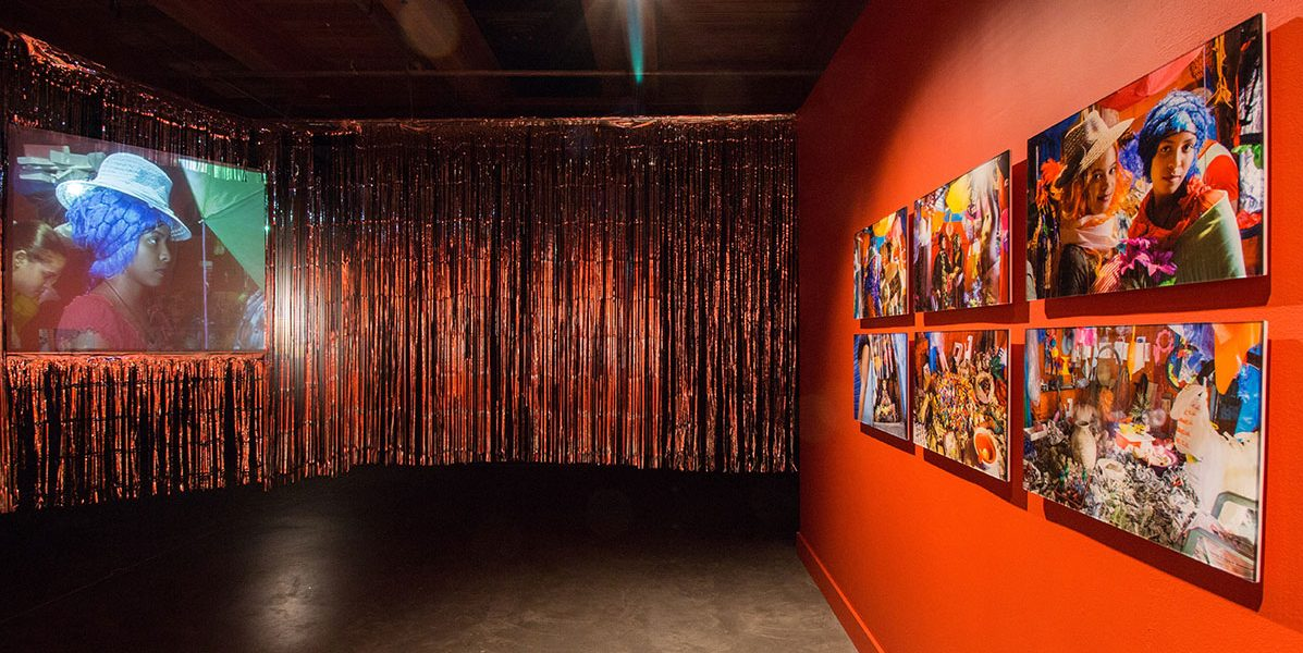 Nicolás Dumit Estévez, C Room (2014) in EN MAS' at CAC, 2015. Photo Sarrah Danziger