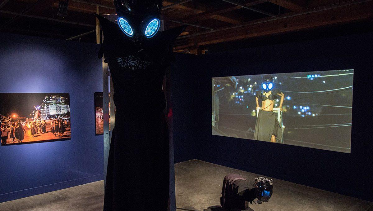 Marlon Griffith, POSITIONS + POWER (2014) in EN MAS' at CAC, 2015. Photo Sarrah Danziger
