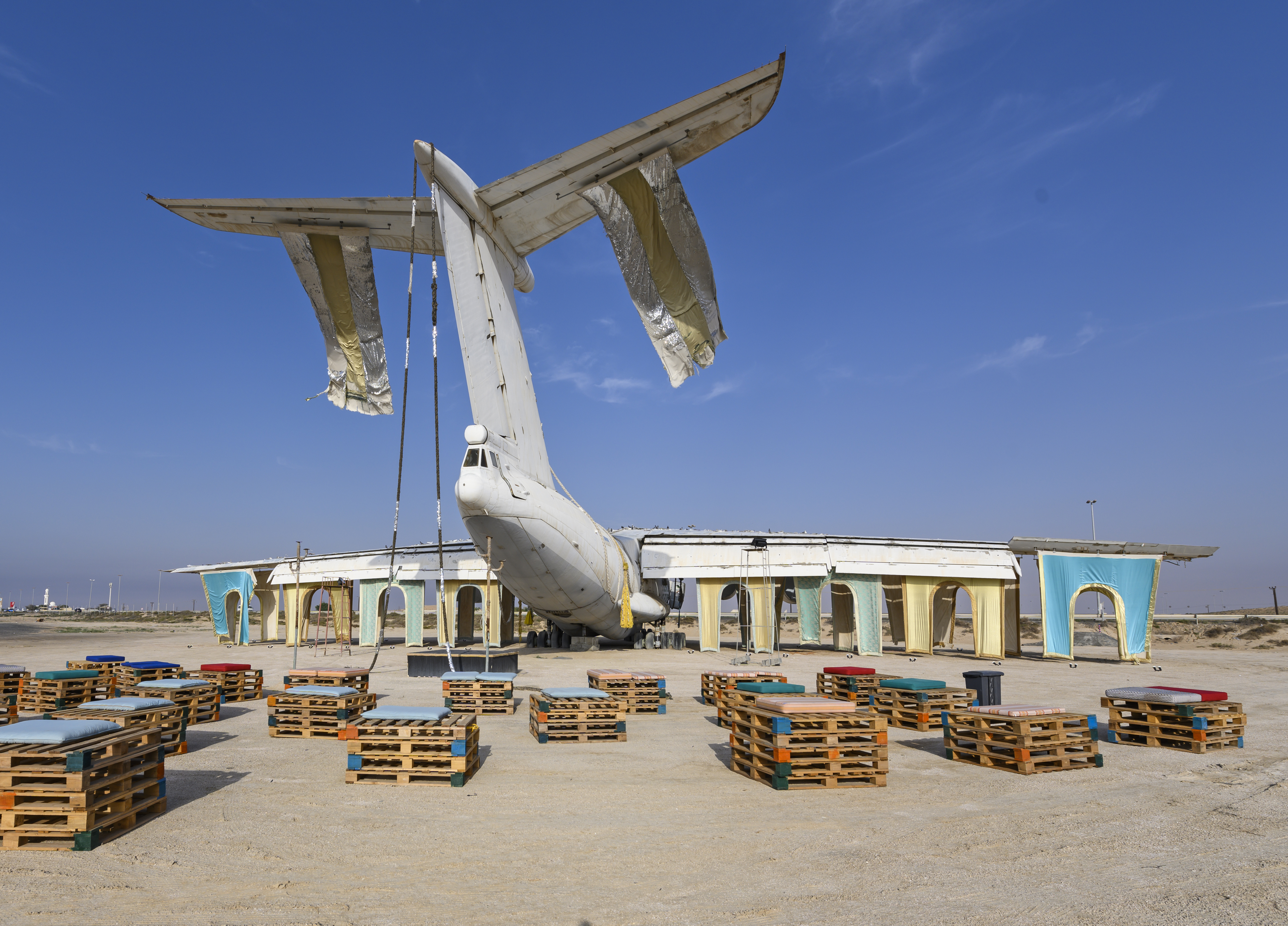 New Orleans Airlift, <br> The Trans-National, 2019, Abandoned airplane site, Umm Al Quwain