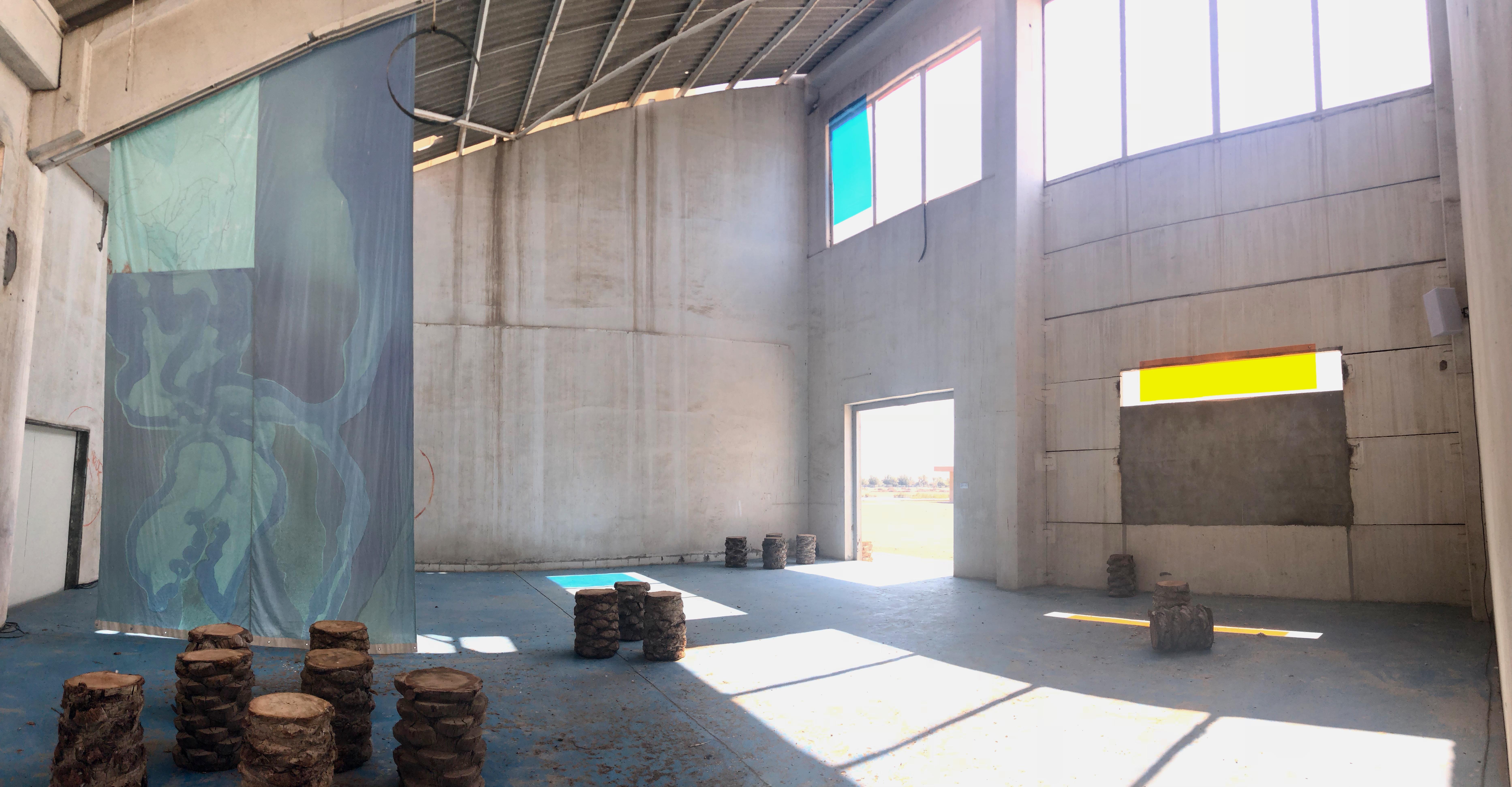Isabel Lewis, Matthew Lutz-Kinoy & HACKLANDER / HATAM, Untitled (inwardness, juice, natures), 2019, Kalba Ice Factory. Photo CT
