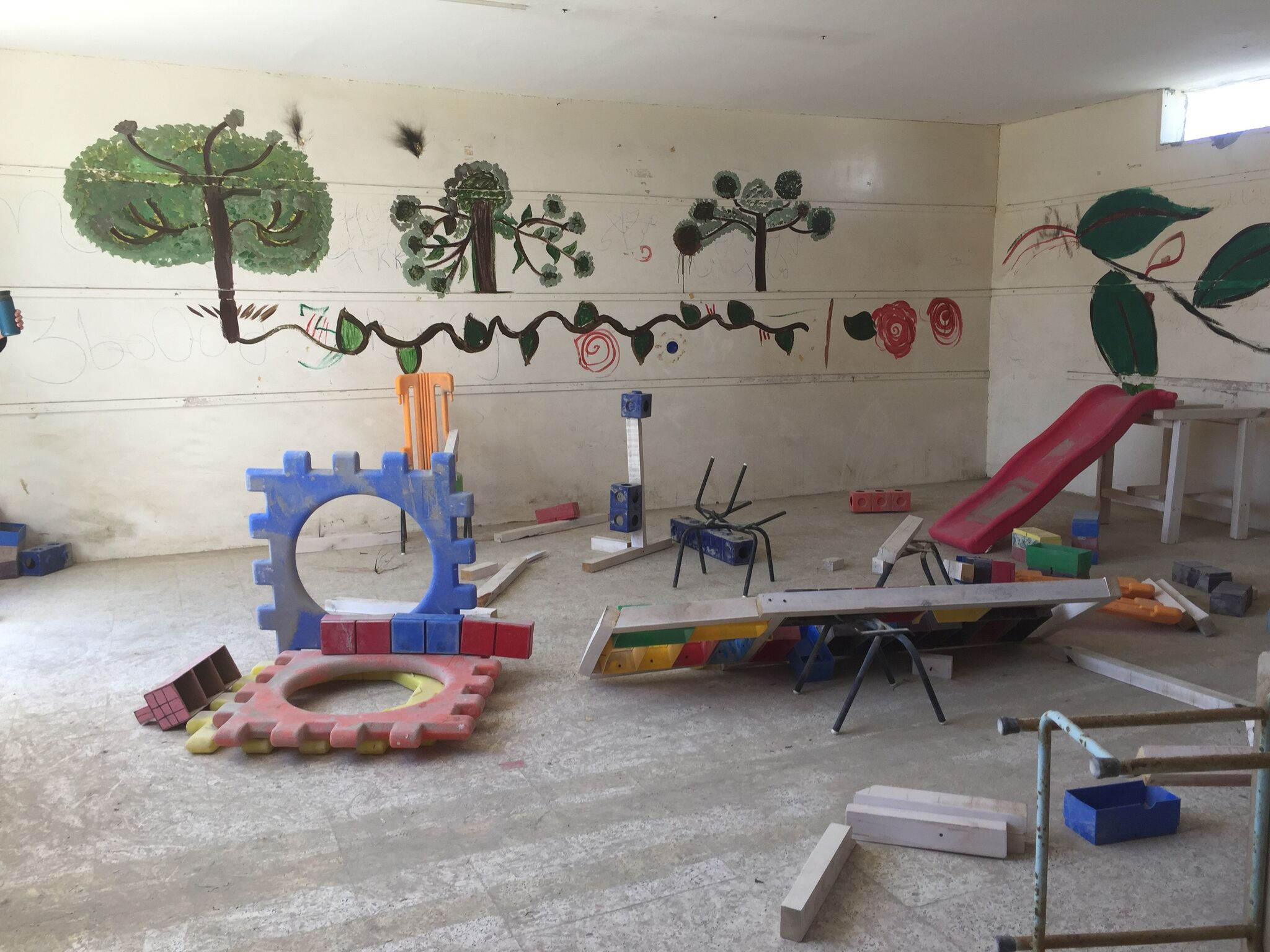 Mohamed Bourouissa, <br>  Blida-Joinville, 2018–2019, Kalba Kindergarten. Photo Muriel Quancard