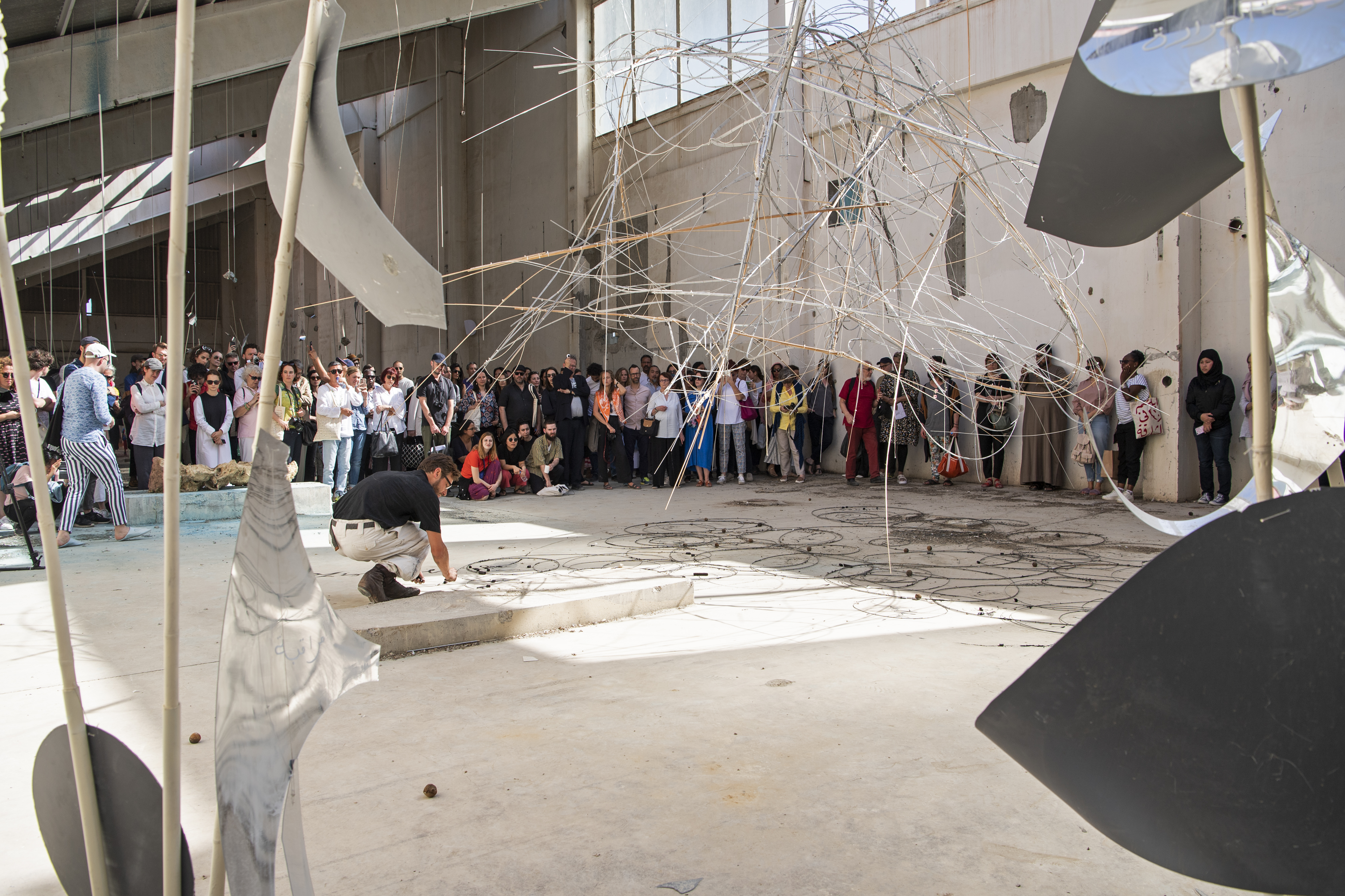 Nikolaus Gansterer, <br> Sympoiesis Observatory performance, March 8, 2019, Kalba Ice Factory. Photo Courtesy SAF