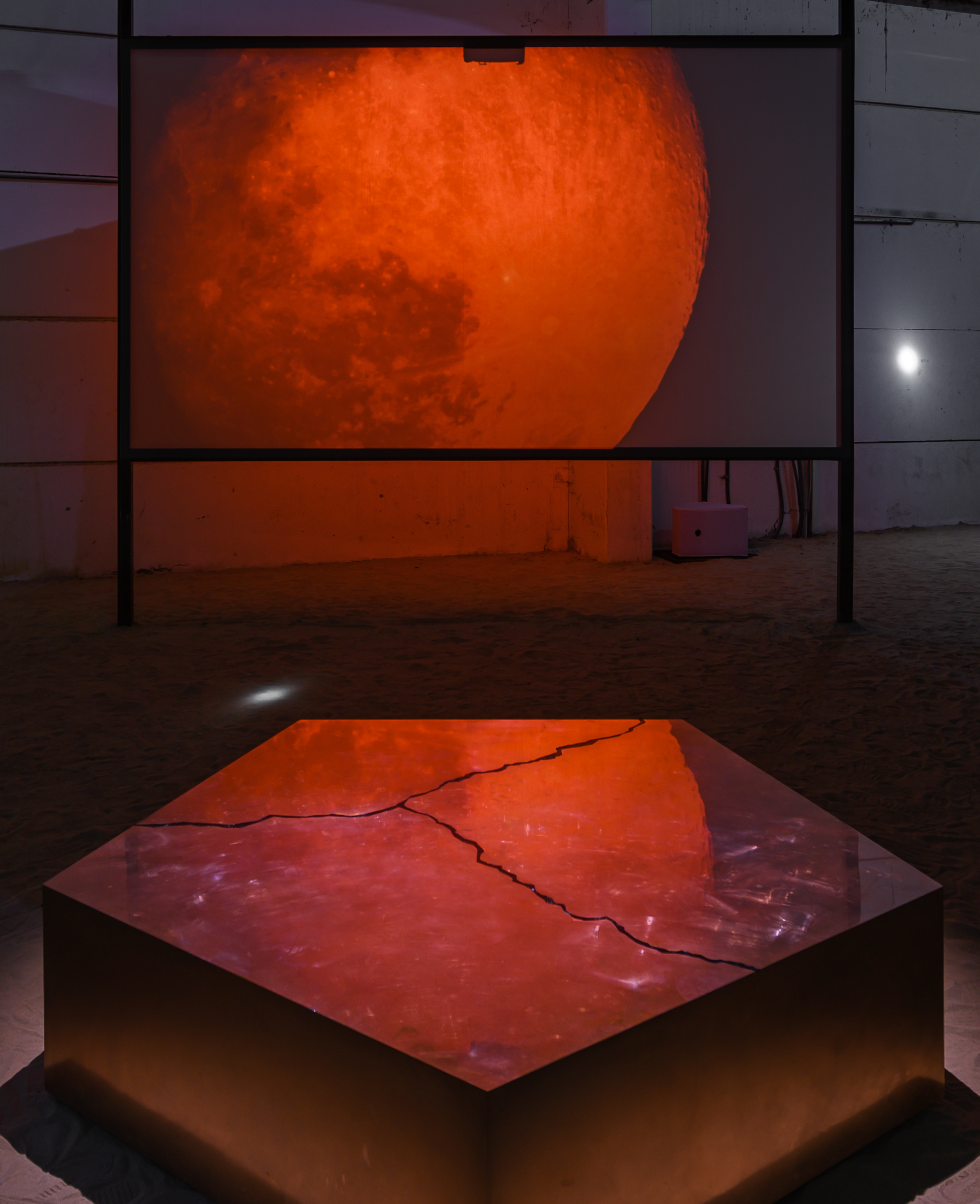 Caecilia Tripp,<br>  Even the Stars Look Lonesome, 2019, Kalba Ice Factory. Photo Courtesy SAF