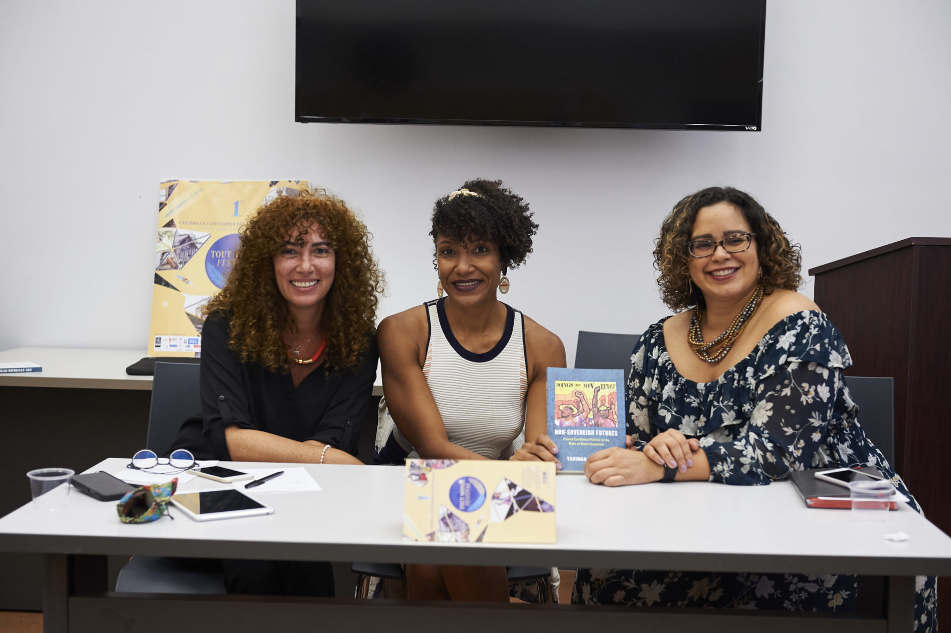 Johanna Auguiac, Claire Tancons, Yarimar Bonilla in conversation around her book Non-Sovereign Futures